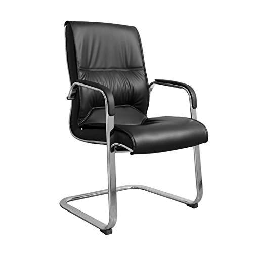 LRQZ-L HWH- Student Chair, Brauner Stuhl Schwarzer Stuhl PU Stuhl Verschleißfester Stuhl Schlafzimmer Stuhl Studie Stuhl Computerspiel Stuhl Computerstuhl (Farbe : SCHWARZ)