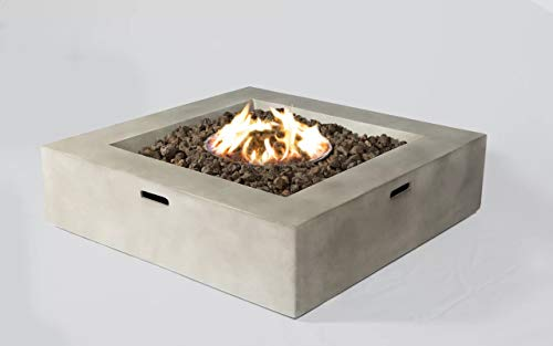 LSI Fire Pit for Outdoor Home Garden Backyard Fireplace, Square Shape (12' H x...