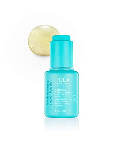 TULA Probiotic Skin Care Brightening Treatment Drops | Skincare-First, Vitamin C Serum, Brightens the Look of Dull Skin & Dark Spots | 1 fl. oz.