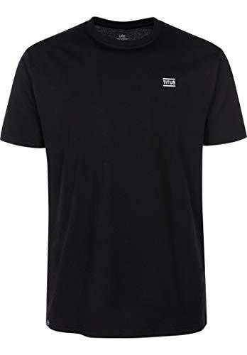 T-Shirt, Chest Emblem, Black, S, T-Shirt | Baumwolle | Schlichtes Design | gemütlich | reguläre Passform