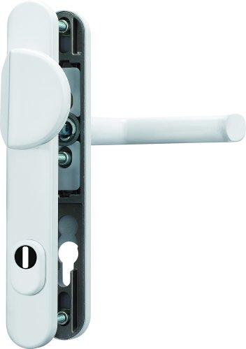 ABUS Tür-Schutzbeschlag SRG92 W weiß mit Zylinderschutz 47957