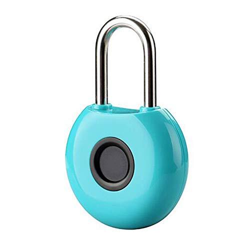 YLEI Intelligentes Fingerabdruck Vorhängeschloß, Smart Fingerprint Lock, wasserdichte Diebstahlsicherung, für Haustür, Rucksack, Koffer, Fahrrad, etc