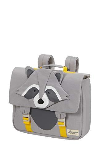 Samsonite Happy Sammies Eco - Schulranzen S, 33.5 cm, 9 L, Grau (Raccoon Remy)