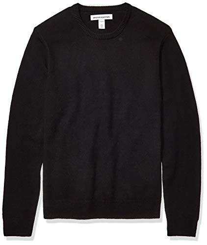 Amazon Essentials Men's Midweight Crewneck Sweater, Black, Large