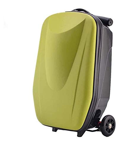 YCRCTC 20 inch Business Scooter Suitcase Men's Trolley case Universal Wheel Ladies Boarding Travel Bag Luggage Wheeled Suitcase Bag Waterproof Skateboard trolley (Color : Green)