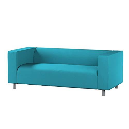 Dekoria Klippan 2-Sitzer Sofabezug Sofahusse passend für IKEA Modell Klippan türkis