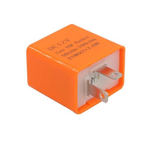 XtremeAmazing 12V 2 Pin Motorcycle Indicator Light LED Electronic Fixed Turn Signal Flasher Relay