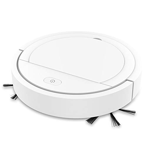Great Deal! Sweeping robot household automatic cleaner USB charging vacuum cleaner (White)