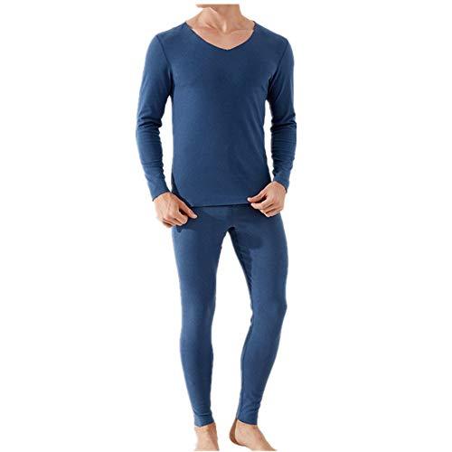 Catiónico traceless ropa interior térmica traje de los hombres delgada de doble cara esmerilada otoño ropa de otoño pantalones otoño invierno