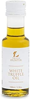 TruffleHunter White Truffle Oil (Tuber Borchii) Cold Pressed Extra Virgin Olive Oil (3.38 Oz) Seasoning Gourmet Food Condiments Salad Dressing - Vegan, Kosher, Vegetarian & Gluten Free
