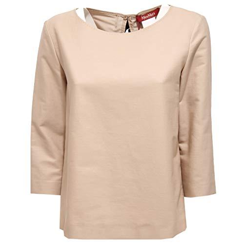 MaxMara 2238AA Maglia Donna Studio Beige Sleeve 3/4 Cotton t-Shirt Woman [46]