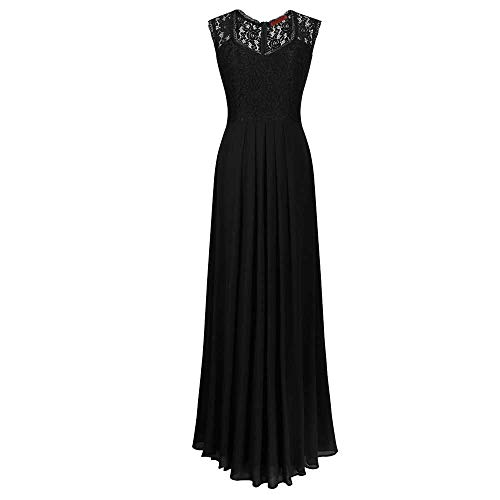 YCQUE Frauen Sommer Herbst Slim Fit Solide Sexy Club Sleeveless Vintage Elegante Spitze Floral Chiffon Cap Sleeve Prom Ball