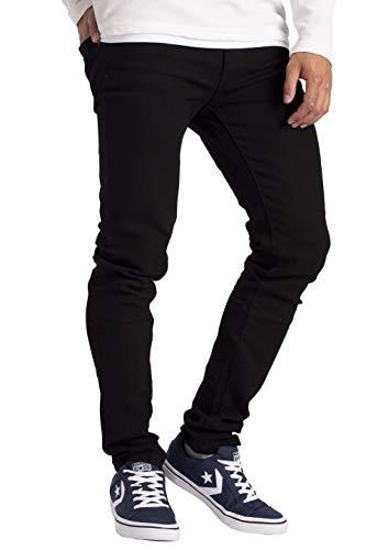 BlauerHafen Herren Slim Fit Jeanshose Stretch Designer Hose Super Flex Denim Pants (38W / 30L, Schwarz)