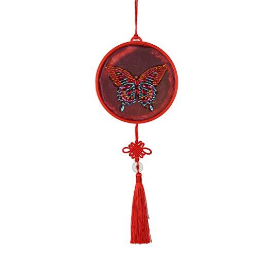 Kerstmis Diamant Schilderij Kits, Grote Mooie Insect Diamant Schilderij Lamp met LED Lampen voor Home Decoratie