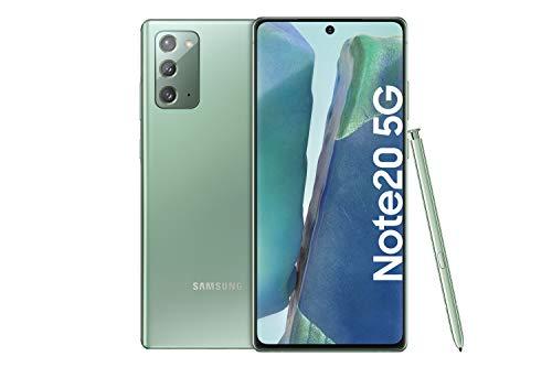 Samsung Galaxy Note 20 5G Android Smartphone ohne Vertrag Triple Kamera Infinity-O Display256 GB Speicher starker Akku Handy in grün inkl. 36 Monate Herstellergarantie [Exklusiv bei Amazon]