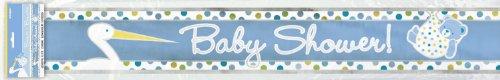 Bébé douche bannière en aluminium Bleu