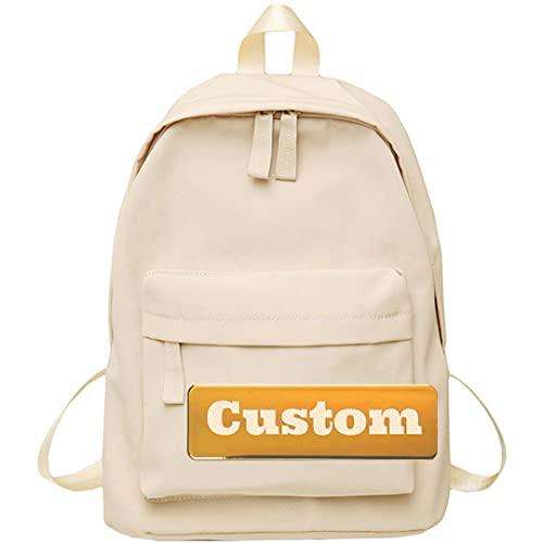 Zaino personalizzato nome personalizzato piccolo leggero daypack escursionismo 20L donne (Color : Kaqise, Size : One size)