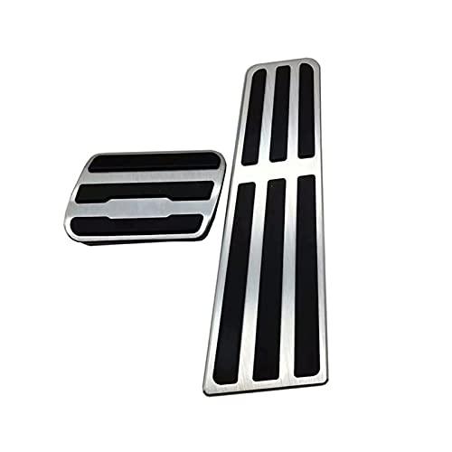 ZHANGWY Yang Store Folleto de Freno de Combustible de Gas Pedal Pedal Pedal Cap Pad Fit para Porsche 911 718 Panamera a 2pcs / Set
