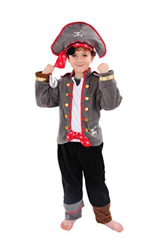 Pirat Kinder Kostüm 98 - 104 für Fasching Karneval Rummelpott