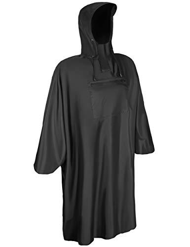 KSP-Tec Regenponcho für Damen & Herren Regenschutz mit 6000mm Wassersäule Regencape Regen Poncho für Fahrrad, Wandern, Angeln und Reiten