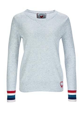 FROGBOX - Damen - Pullover - hellgrau - Streifen - froginlove (40)