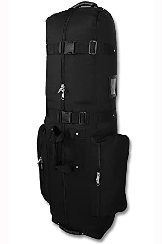 CaddyDaddy CDX-10 Padded Golf Travel Bag Cover with Large Pockets - Heavy Duty, Wheeled Golf Bag Travel Cover, Lightweight