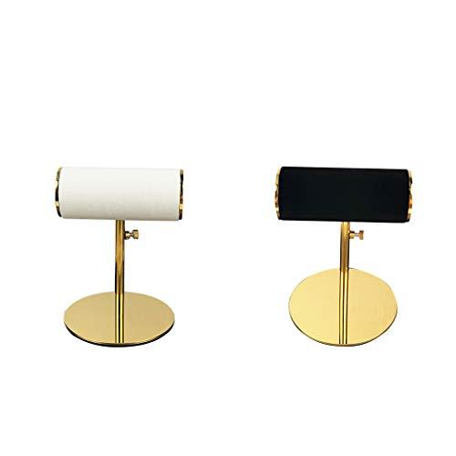 freneci 2pcs Soporte de Joyería T-Bar Oraganizer Soporte para Relojes Pulseras Brazalete Puños