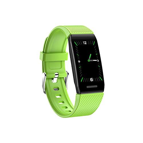 DAODE Reloj inteligente de pulsera, impermeable, pantalla a color, compatible con iOS y Android (verde)