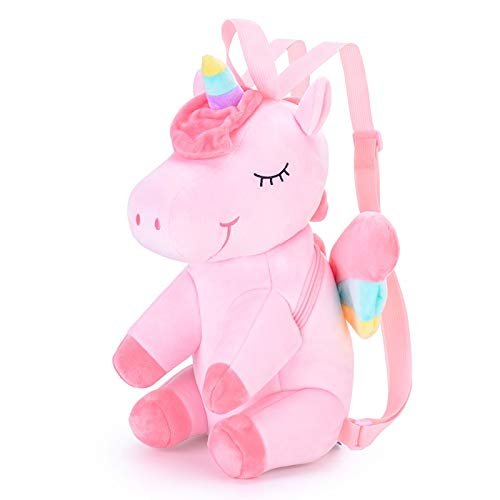 XINGYAO Juguete de Peluche Mochila de Felpa 3D Unicornio para niñas Mochila para niñas Mochila para niños Mochila para niños Regalo Escolar Regalo de cumpleaños Muñeco de Peluche
