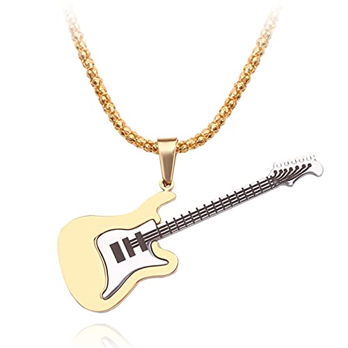 YUNMENG Mini Collar de Guitarra eléctrica con Soporte, Instrumentos Musicales en Miniatura,...