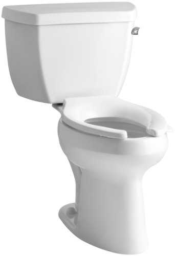 Kohler K-3493-RA-0 Highline Classic Pressure Lite Comfort Height Elongated 1.4 gpf Toilet with Right-Hand Trip Lever, Less Seat, White