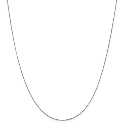 925 Sterling Silver .5mm Link Curb Chain Necklace 18 Inch Pendant Charm Fine Jewelry For Women Gifts For Her
