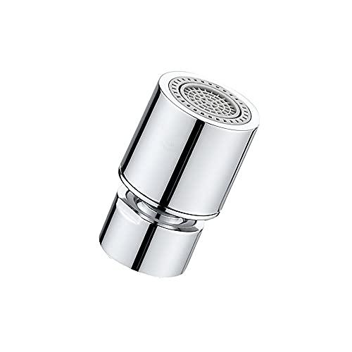 Swetup Aireador para grifos de 22 mm, rosca interior, cabezal giratorio de 360 grados, ahorro de agua, adecuado para cocina y baño, dos flujos de agua diferentes
