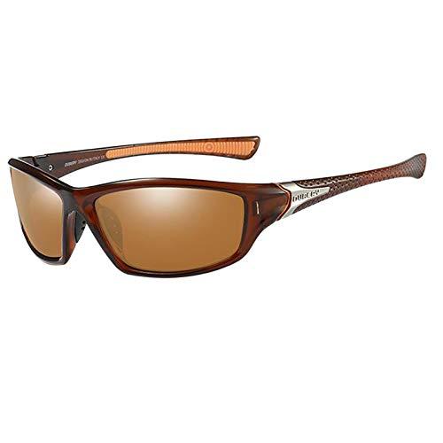 Colcolo Óculos de Sol de Esqui Esportivo, óculos de Proteção UV400 para Ciclismo E Bicicleta, óculos de Sol Unissex para Corrida/Esqui/Snowboard - Marrom