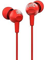 JBL C100 Kulak İçi Kulaklık, Kırmızı