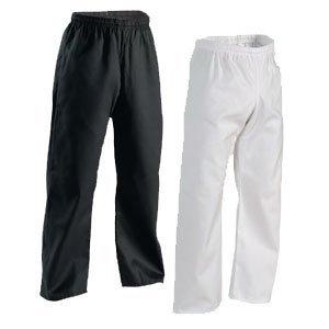 Century Martial Arts Middleweight Student Elastic Waist Pant - Black, 6 - Adult X-Large