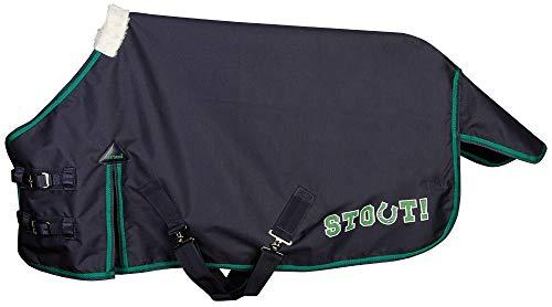 Harry\'s Horse Regendecke Stout! Green Nylon-Futter Minishetty+Shetty Logo-Print (85 cm)