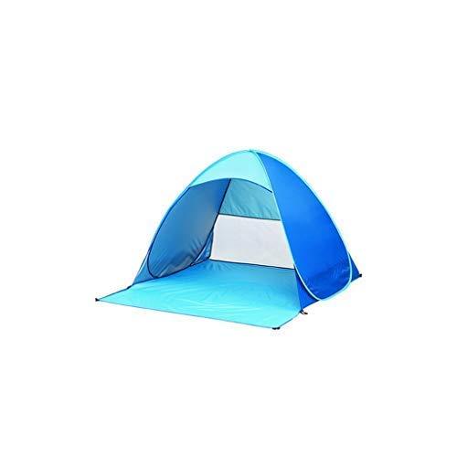 Dpliu Tält, utomhus öppet tält, 2 personer, 190T silverbelagt taft material, 2 sekunders hastighet öppet inget behov av att bygga, vattentätt och UV-beständigt, lämpligt för picknick strand vandringsparker lekgräsmattor