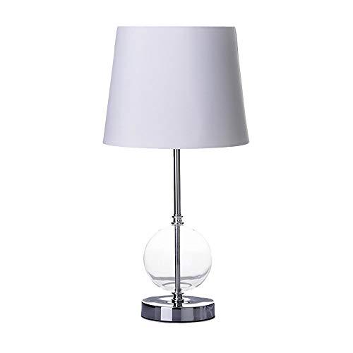 Lámpara de mesa moderna de cristal plateada de 25x50 cm