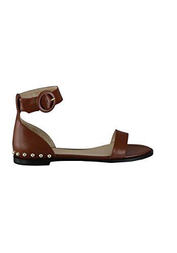 Hugo Sandale Sandal-S Leder Nieten mittelbraun Größe 36