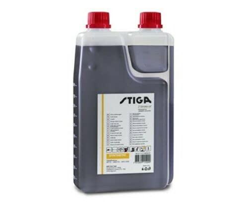 Stiga Aceite de mezcla sintética para motores de 2 tiempos, 1 litro, motosierra desbrozadora