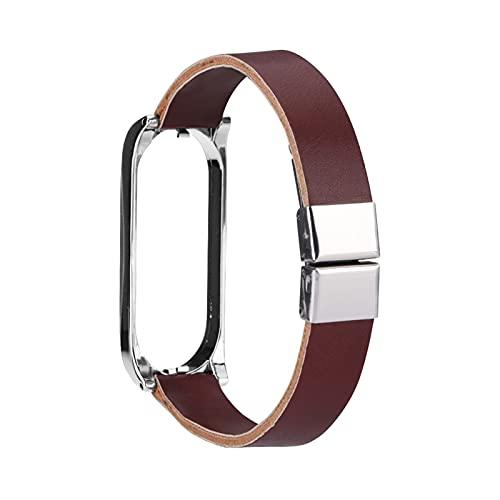 XIXI-Home Reloj de Cuero FIT FOR para XIAOMI MI Band 5 4 3 5 NFC Muñeca Inteligente Accesorio Accesorio Correa de Pulsera Ajuste para MIBAND 3 4 MI5 Correa (Color : G, Size : For Mi Band 3)