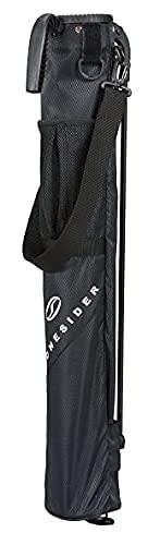 つるやゴルフ ONESIDER(ワンサイダー) セルフ スタンドクラブケース 約6〜8本収納可 [ブラック] 軽量 コンパクト収納 OSCC-20393LP