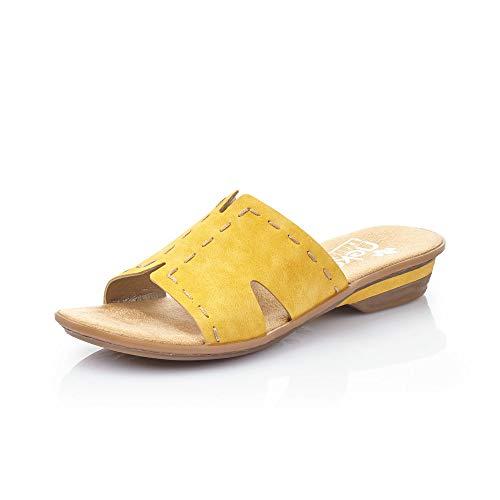 Rieker Femme Mules et Sabots 63492, Dame Mules,Pantoufle,Sandale,Chaussure d'été,Chaussure décontractée,Sonne,38 EU / 5 UK