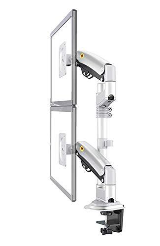 Soporte Vertical para Monitor Soporte para Monitor Doble Brazo de Gas Soporte para TV LCD de Grado Completo Brazos de 2 a 12 kg en el Soporte ergonómico Brazos para Monitor Soportes (Color: