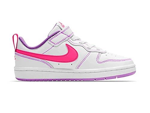 Nike Court Borough Low 2 (PSV), Scarpe da Basket,Unisex-Bambini, White/Pink, 28.5 EU