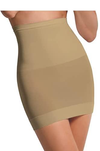 SENSI\' Shapewear Damen Miederrock HOHE Taille Unterrock Seamless Mikrofaser nahtlos atmungsaktiv antibakteriell ECO Made in Italy XS S/M M/L L/XL SCHWARZ Weiss BEIGE