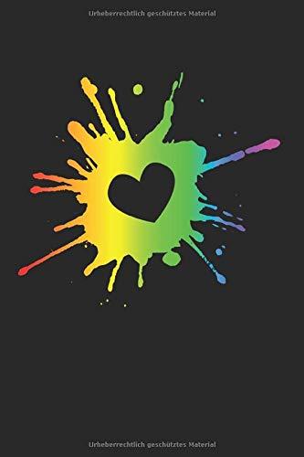 Regenbogenfarben: 6X9 Zoll Notizbuch – Kariert – Din A5 Heft Für Homosexuelle Mit 120 Seiten  Tagebuch Planer   Notiz Buch Geschenk Journal Notebook Logbuch