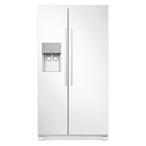 Samsung RS50N3513WW Freestanding American Fridge Freezer with Digital Inverter Technology, Plumbed-In Water and Ice Dispenser, 501 Litre, 91 cm wide, White