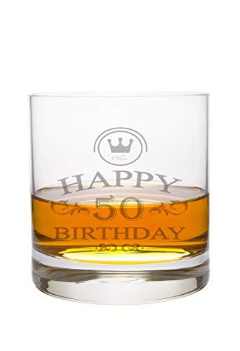 Whiskeyglas Leonardo met Happy Birthday gravure - verjaardag cadeau idee whisky-glas gegraveerd